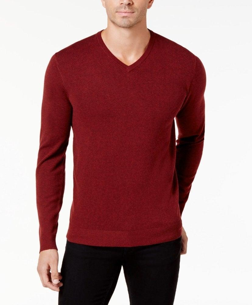 V-Neck Cotton Sweater Size XXL