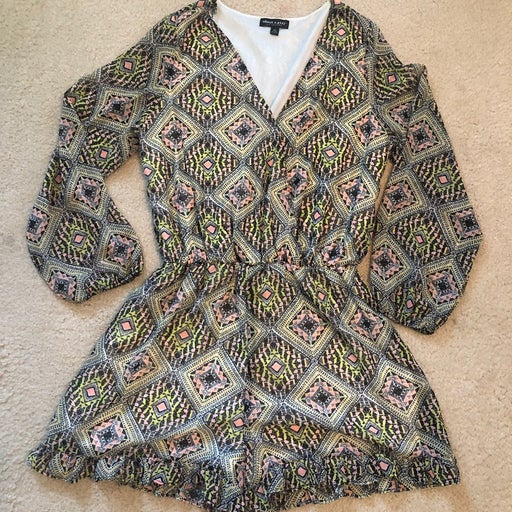 Long Sleeved Multicolored Romper SizeXL