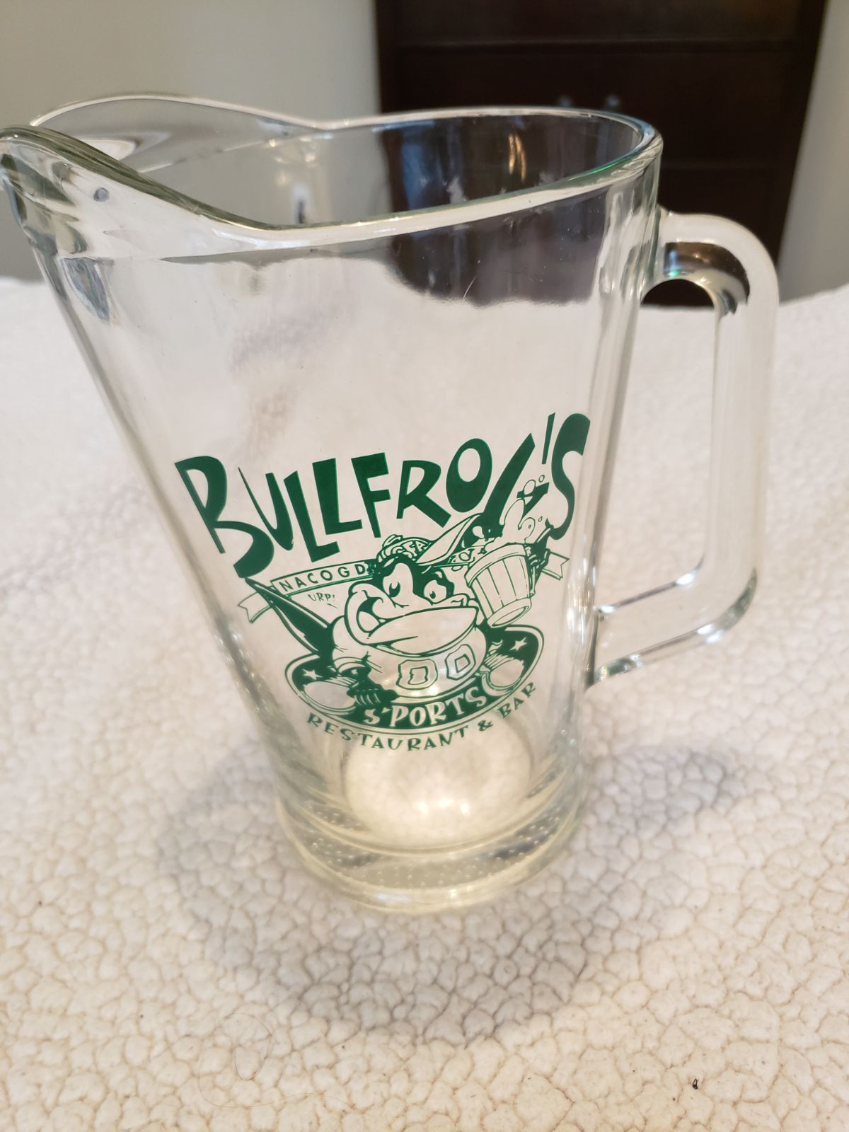 Bull Frogs Sports Bar Beer Pitcher