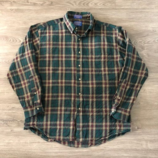 Sir Pendleton Mens Shirt Virgin Wool L B