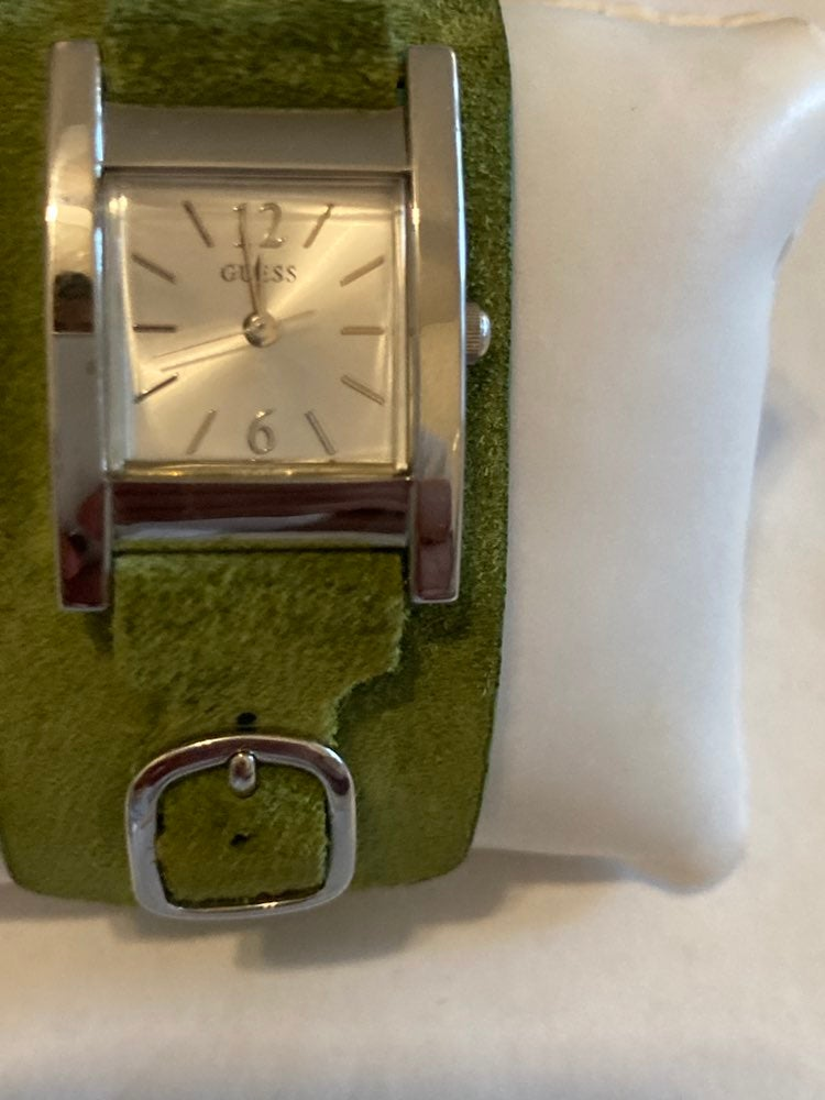 Guess Ladies Green Strap Quartz Watch