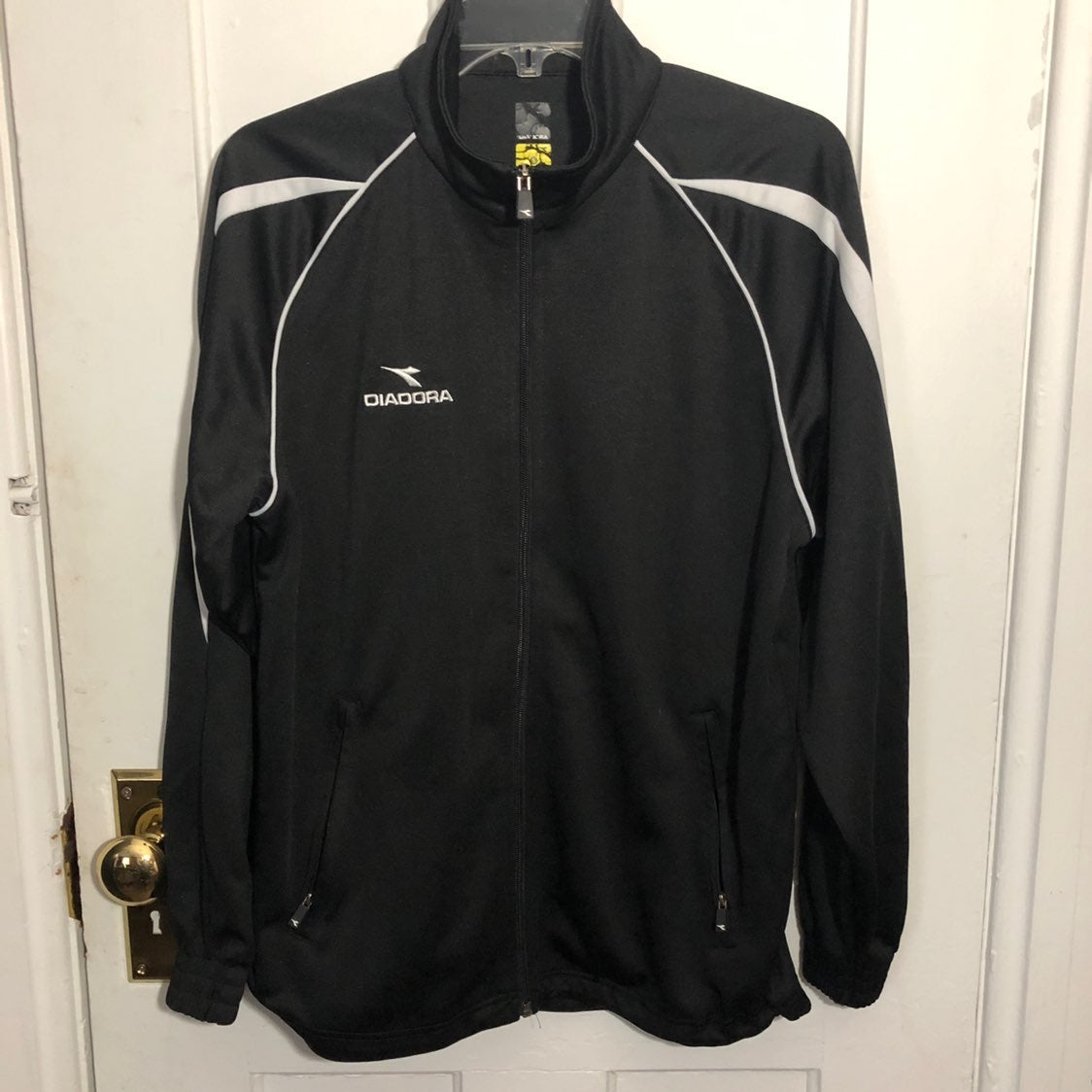 Diadora Jacket Size S Black Full Zip