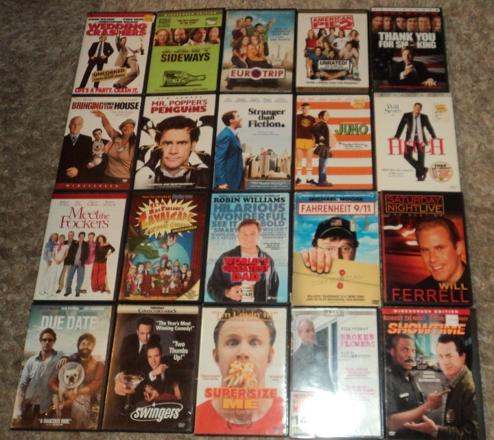 LOT OF 20 - ASSORTED COMEDY DVDS
