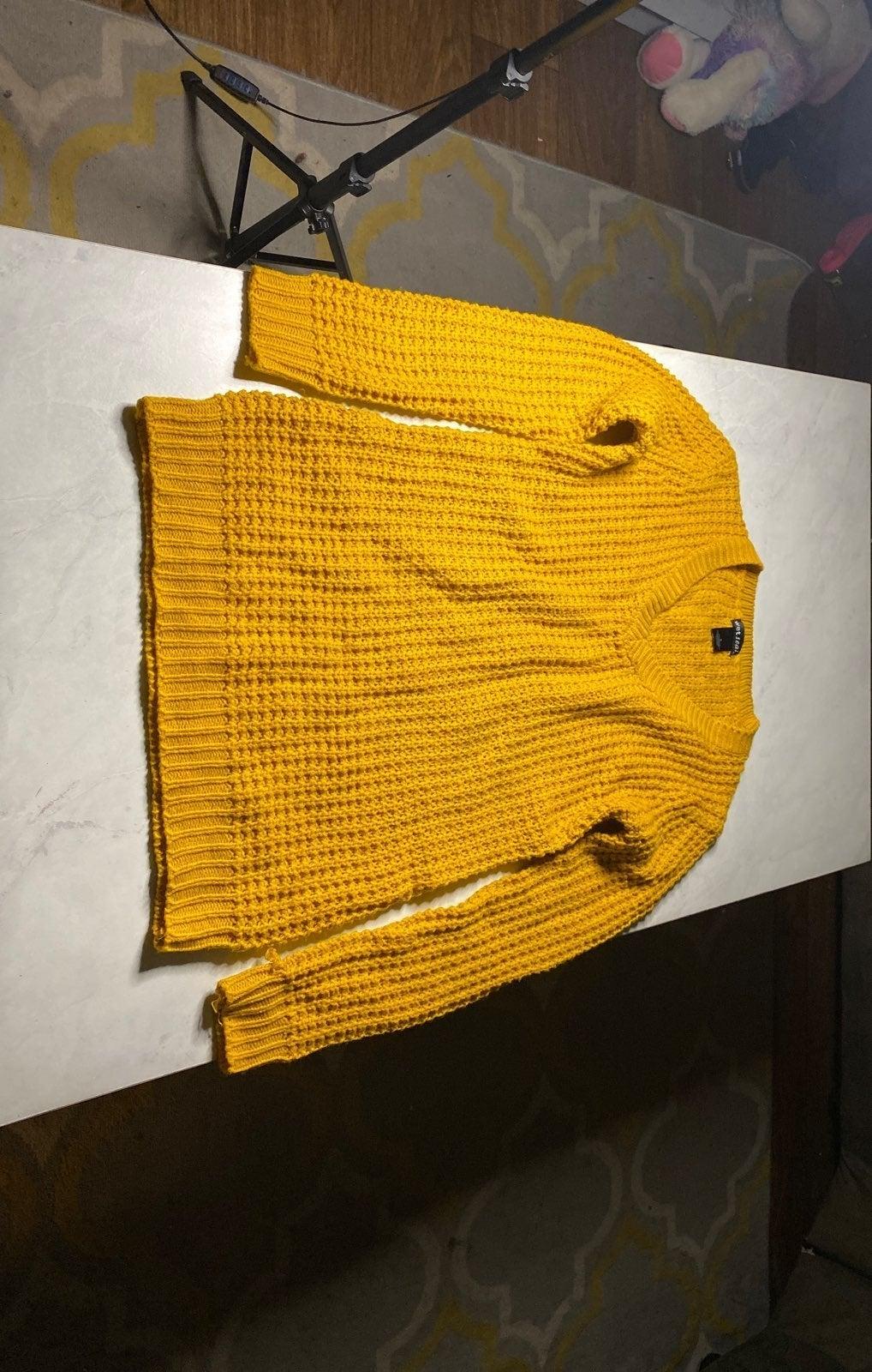 Mustard Waffle Knit Sweater