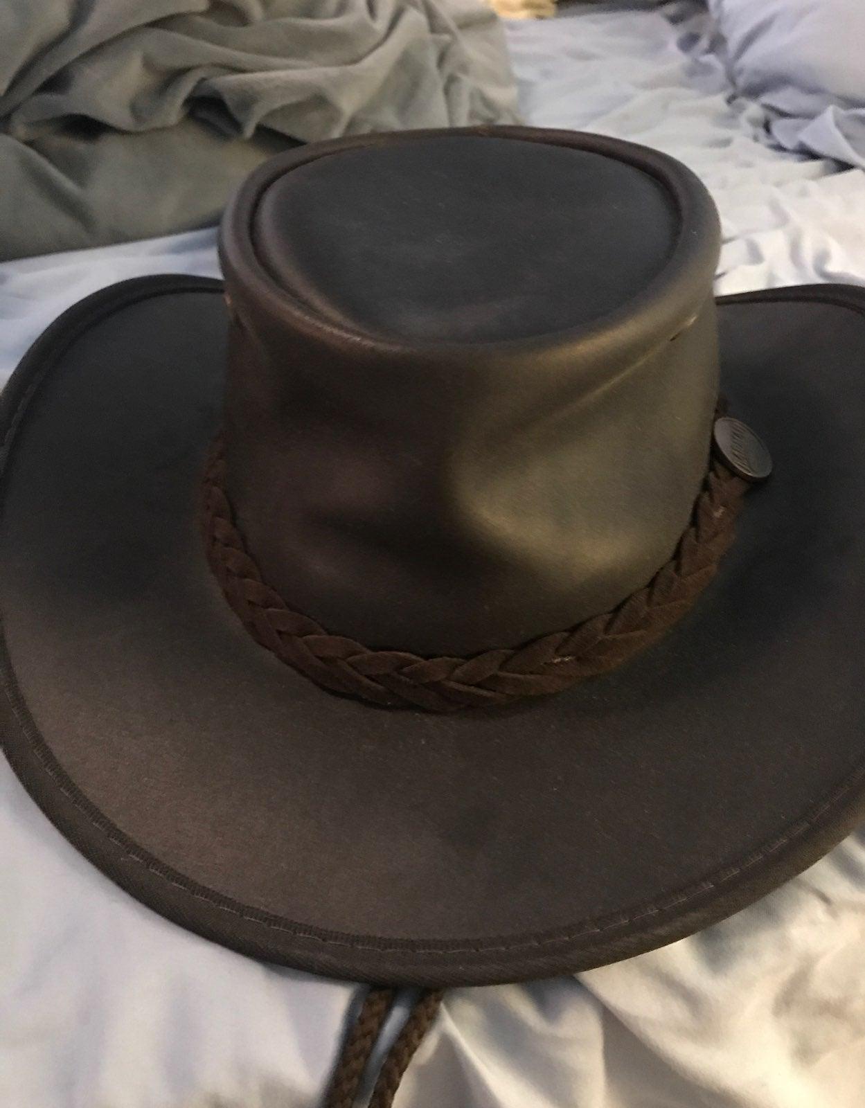 Barmah Hats Foldaway Saddler Leather Hat