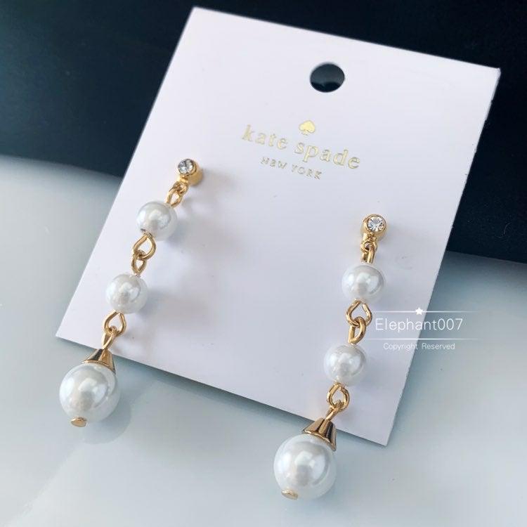 Kate Spade pearl pendant Earrings