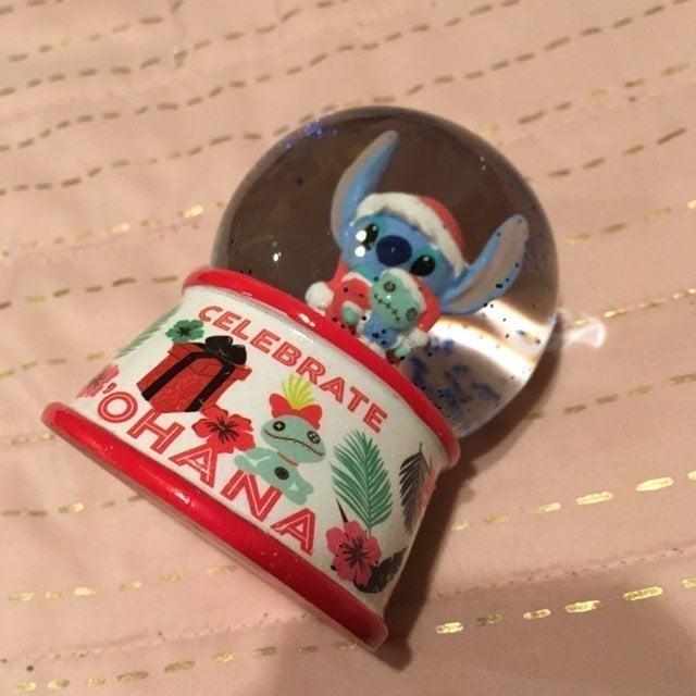 Lilo Stitch Santa Mini Snow Globe Scrump