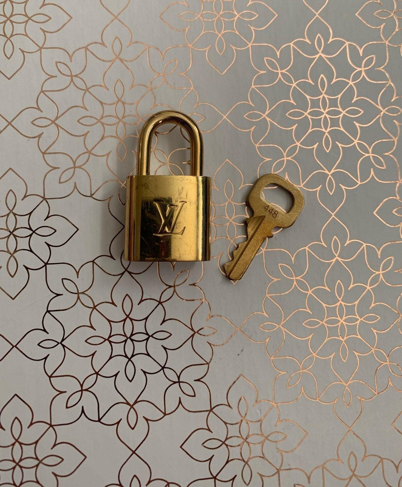 Louis Vuitton single lock and key