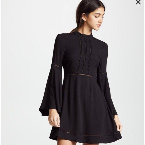 JACK BB DAKOTA black mini dress long bel