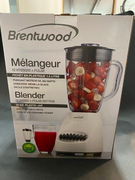 Brentwood White 12-Speed + Pulse Blender