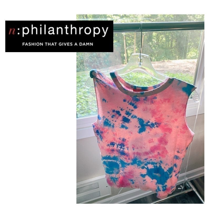 n:Philantropy tie dye custom tank small