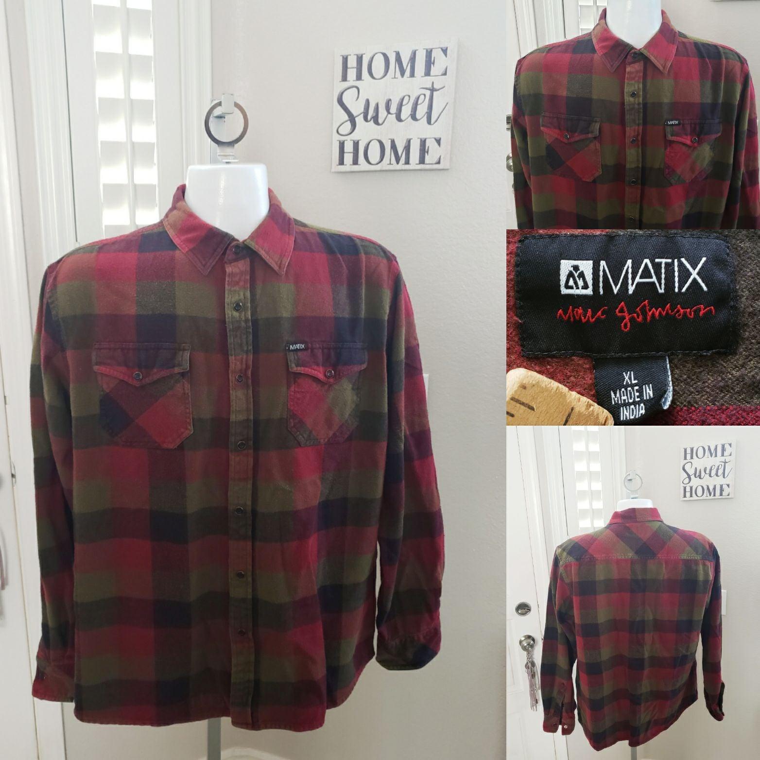 Men's Matix Flannel Button Longsleeve XL