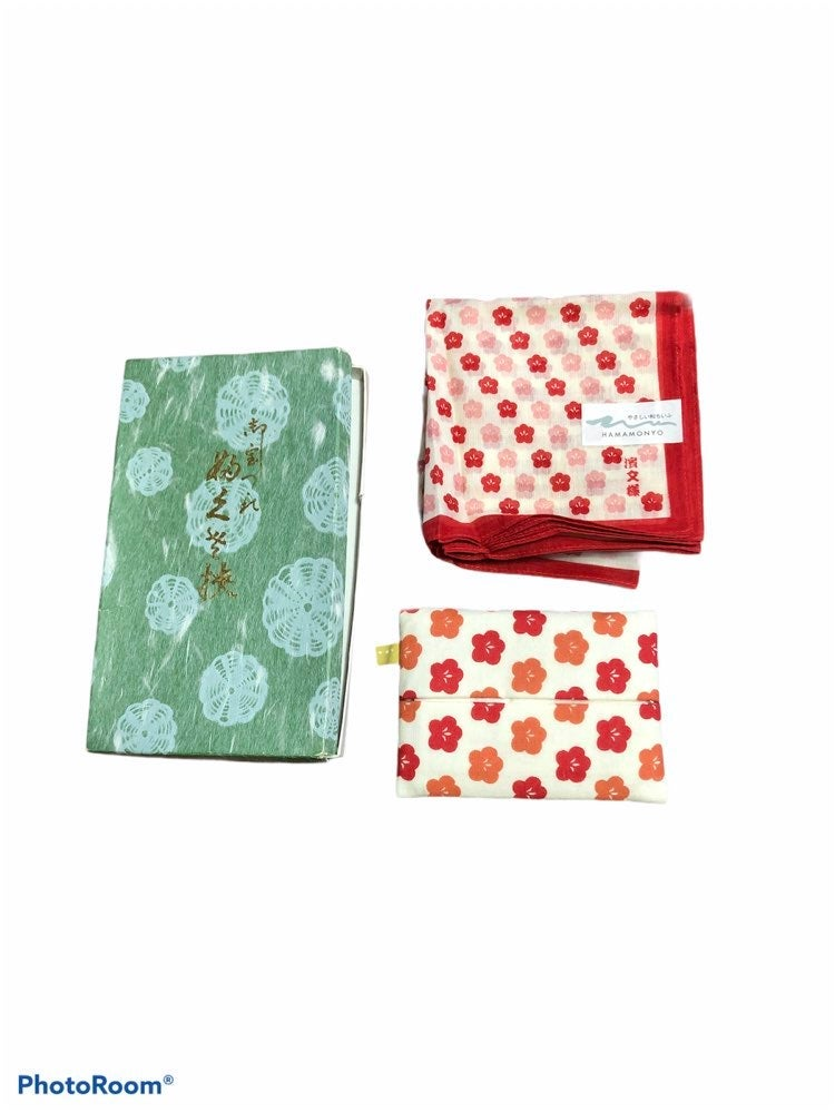 Japanese Handkercheif & Tissue Holder Se