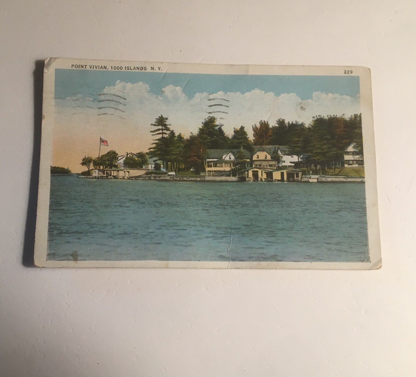 1935 Antique Post Card Point Vivian NY