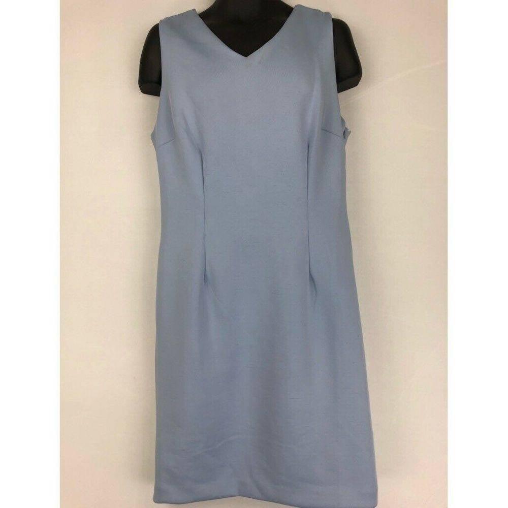 T Tahari Sheath Dress Blue 14