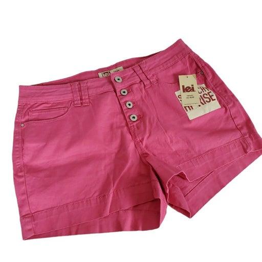 Lei Short Shorts High Rise Tatum Pink