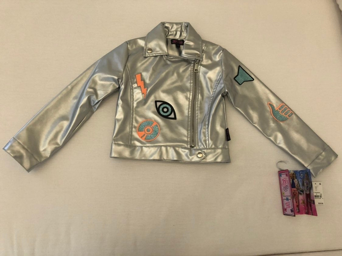 New! JoJo's Closet Silver Jacket (xs)