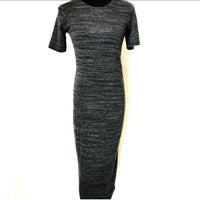 457bd729e256b Zara Bodycon Midi Dress Size M Grey
