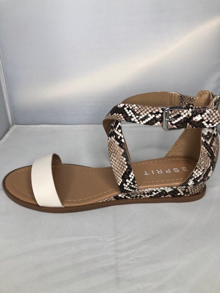Esprit snake print 9 medium sandal NWT