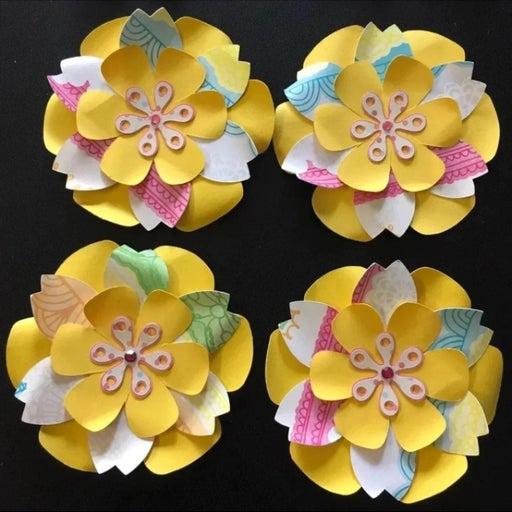 Handmade Paper Flowers Unicorn Colors