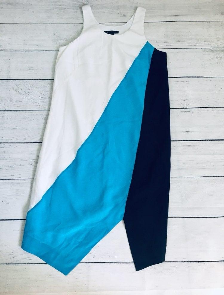 Armani Exchange Tricolor Silk Dress xs/2
