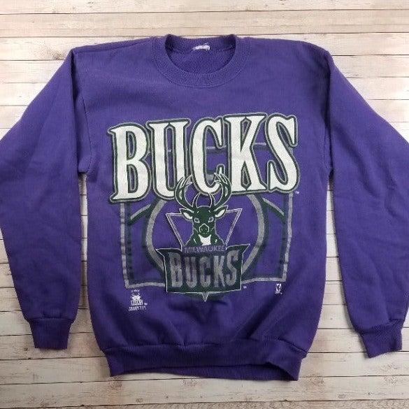 VTG 90s Milwaukee Bucks Purp Sweatshirt