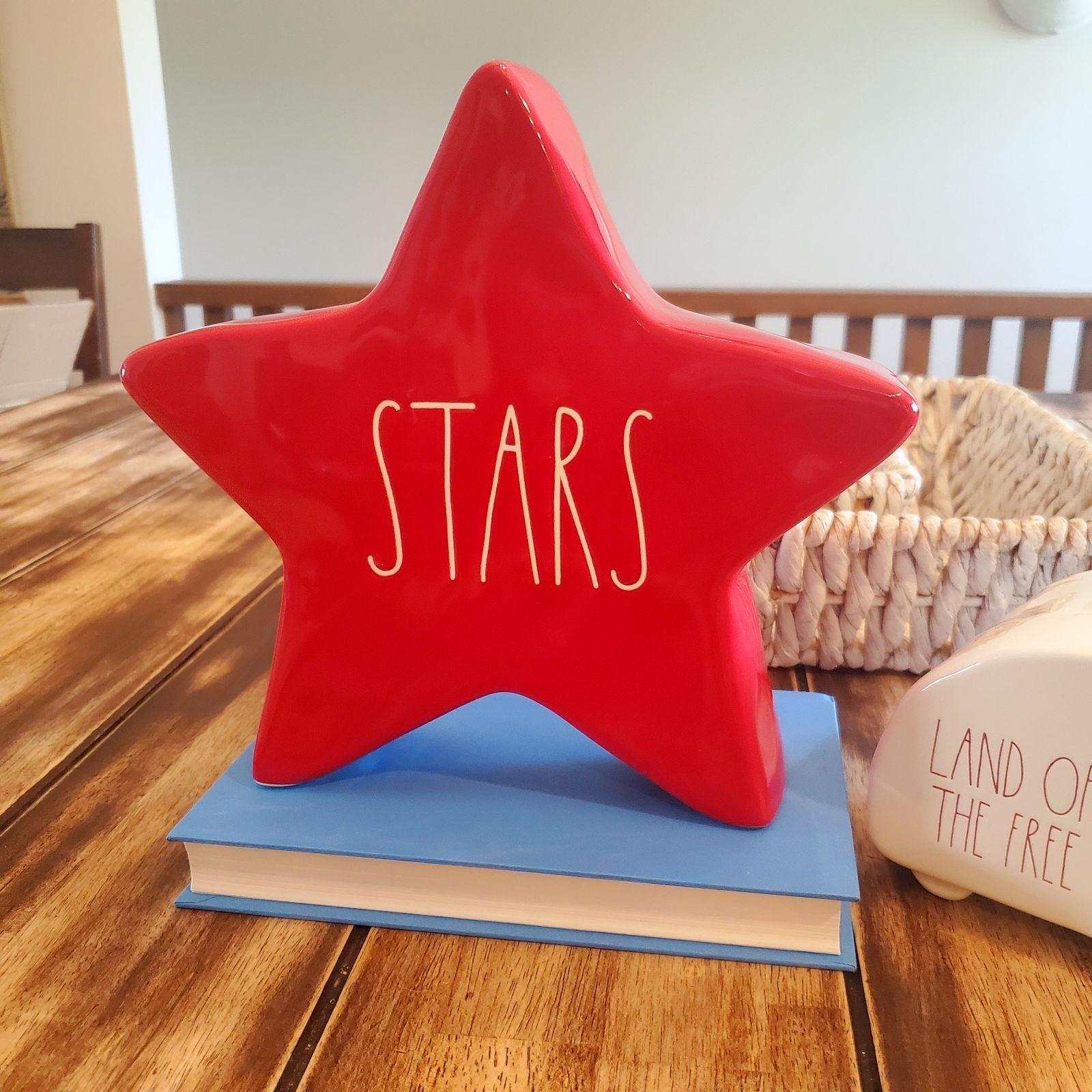 Rae Dunn Red STARS