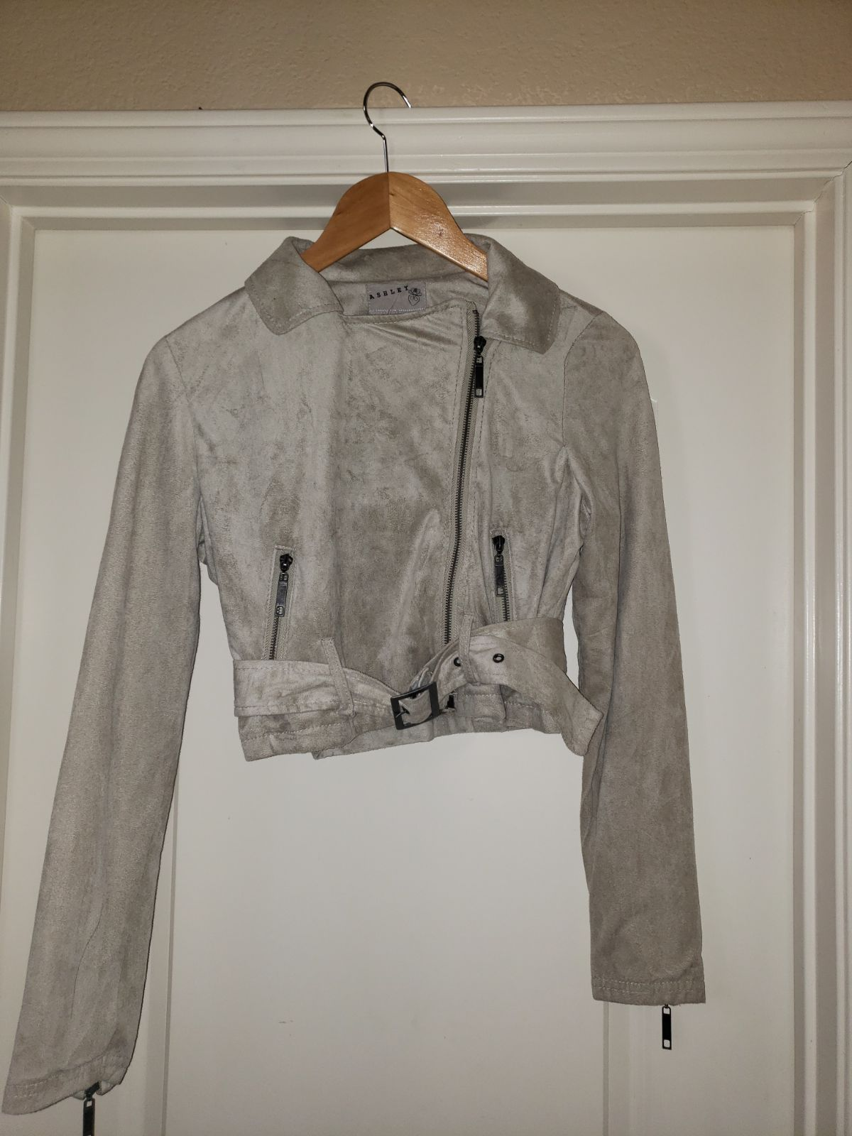 Tan Suede Jacket Light Weight