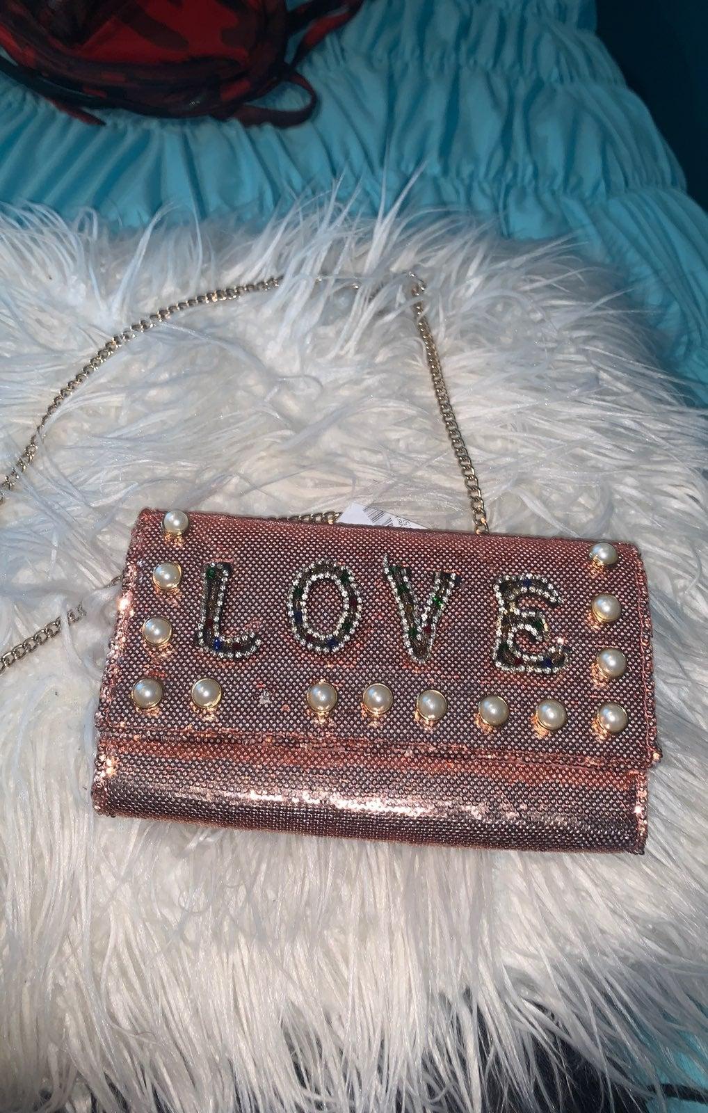 loving saying shoulder purse