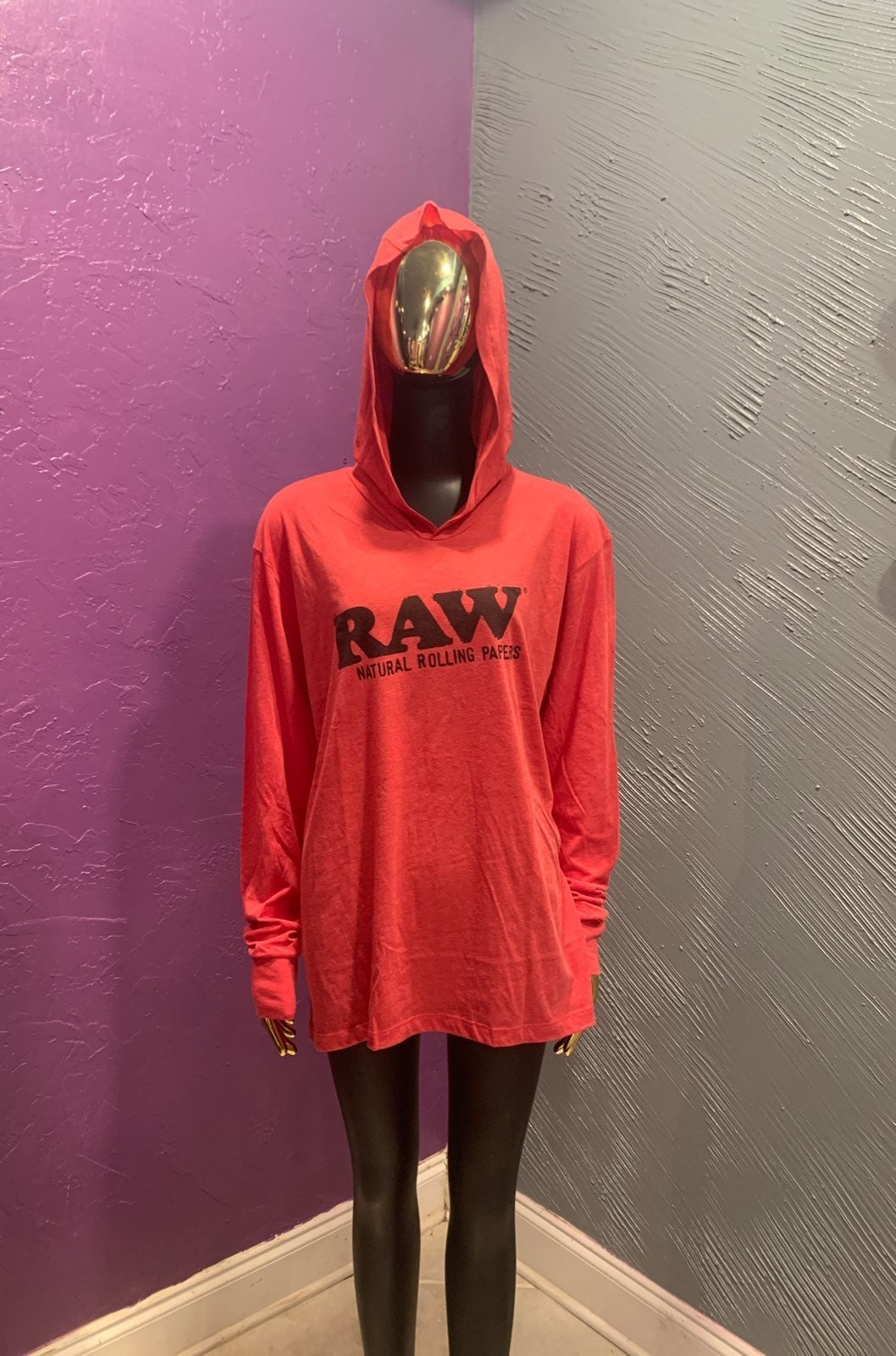 Large RAW authentic lightweight hoodie