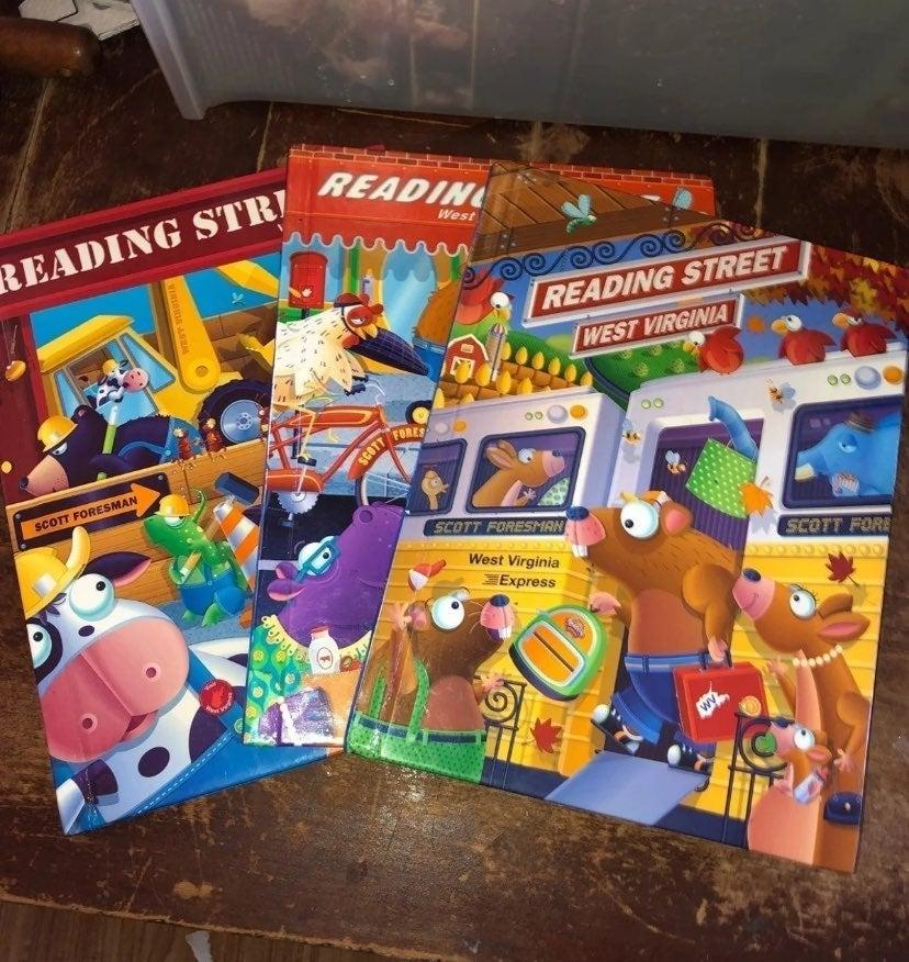 3 Reading Street WV Home School Books