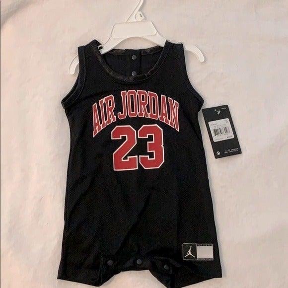 [ Air Jordan ] Black & Red Onesie 23 NWT