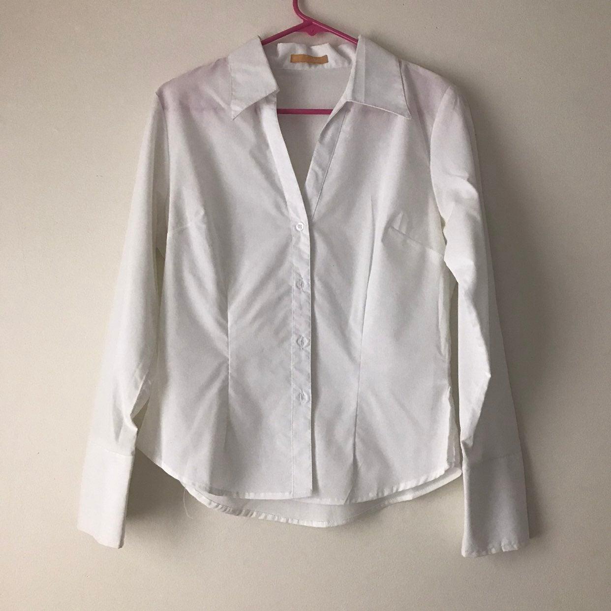 2 white button down shirts size M