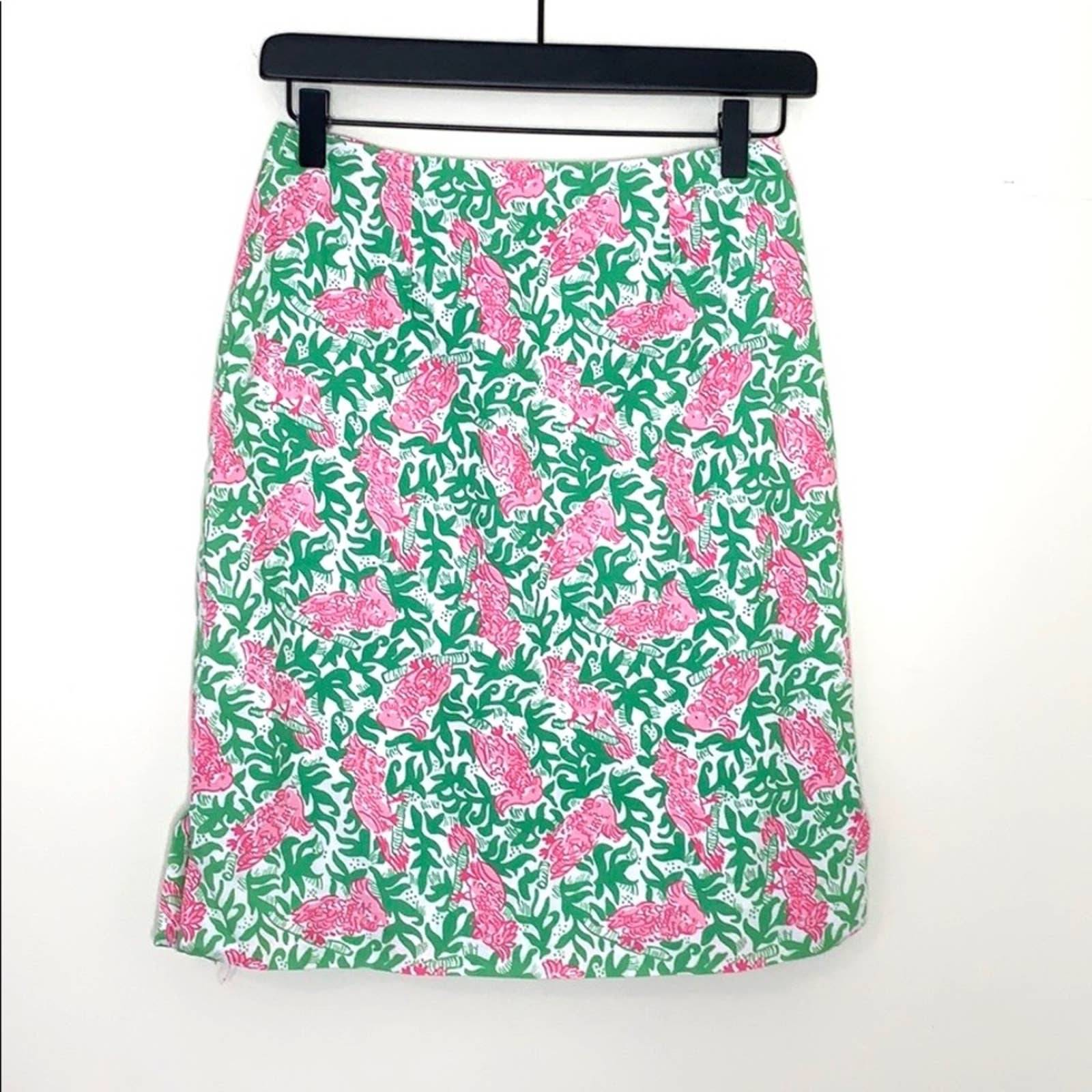 Lilly Pulitzer Parrot Pencil Skirt