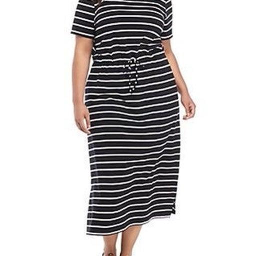 Kim Rogers Tie Waist Maxi Dress Plus Siz
