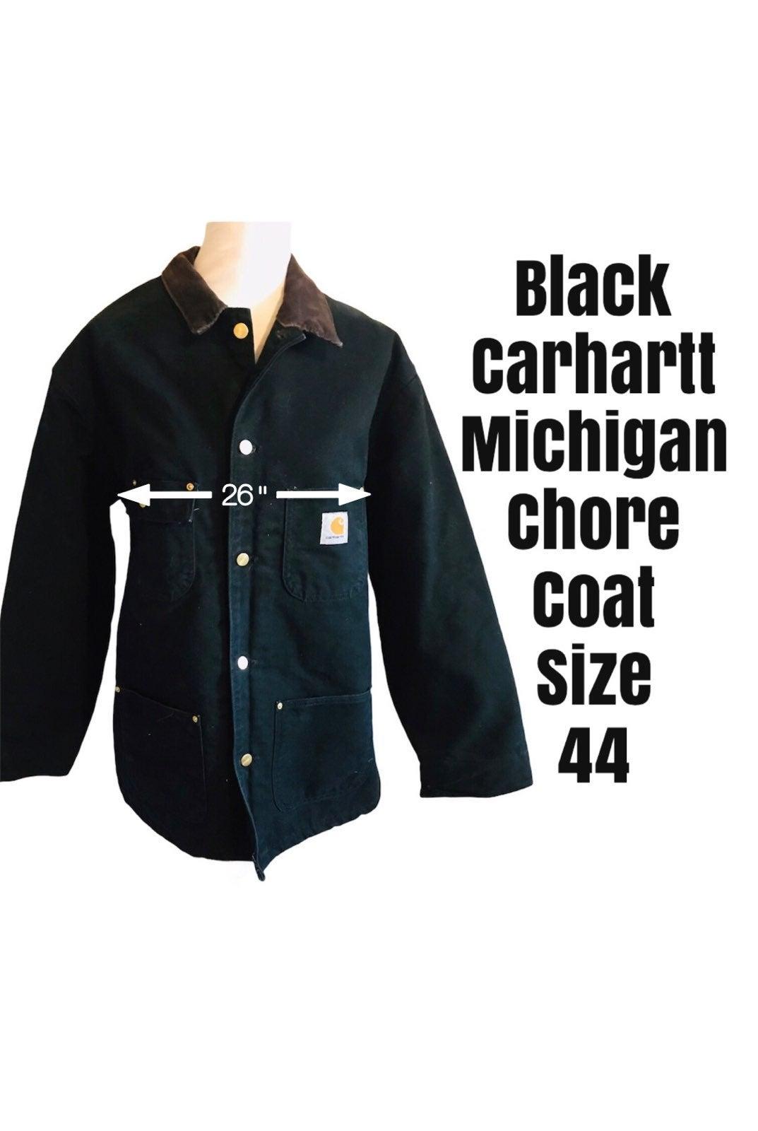 Black Carhartt Michigan Chore Coat 44