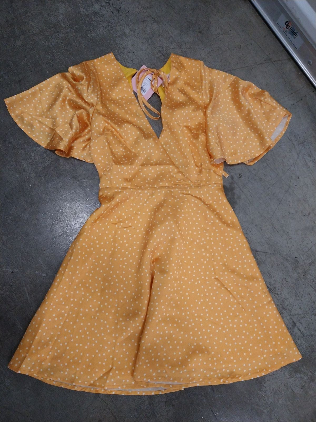 Women's Yellow Polka Dot Dress NWT