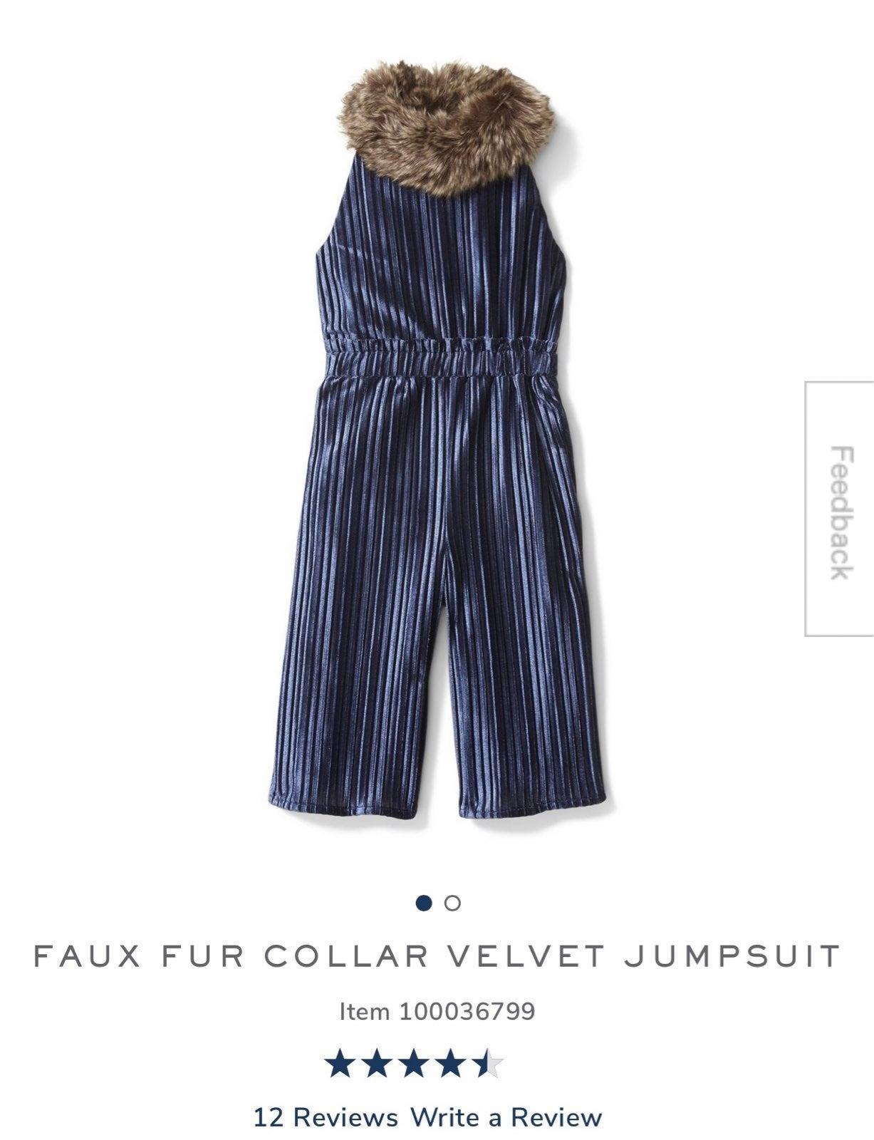 Faux Fur Janie and Jack Jumpsuit