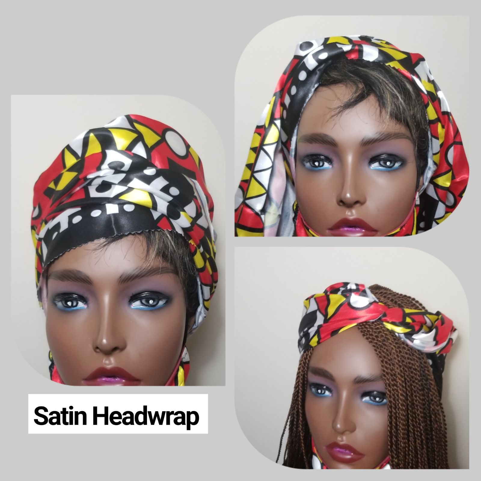 "Satin Headwrap( 20""inches/ 70""inches"