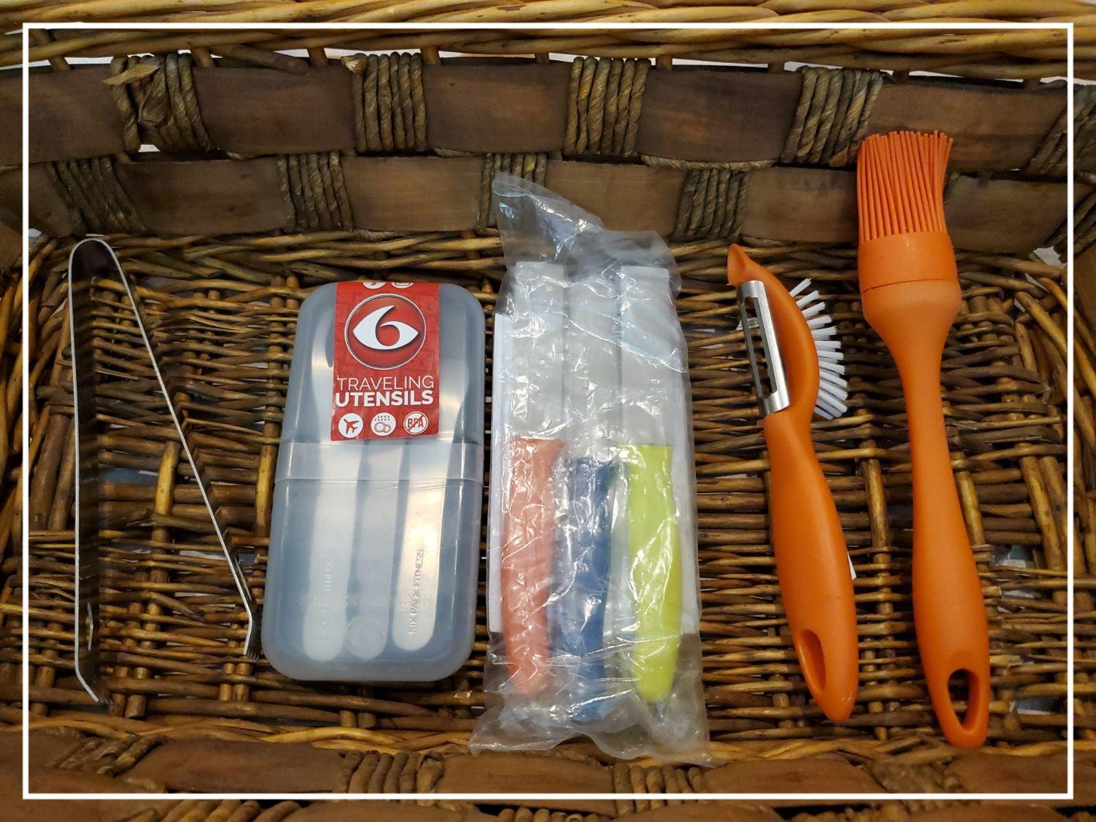 Travel cooking utensils