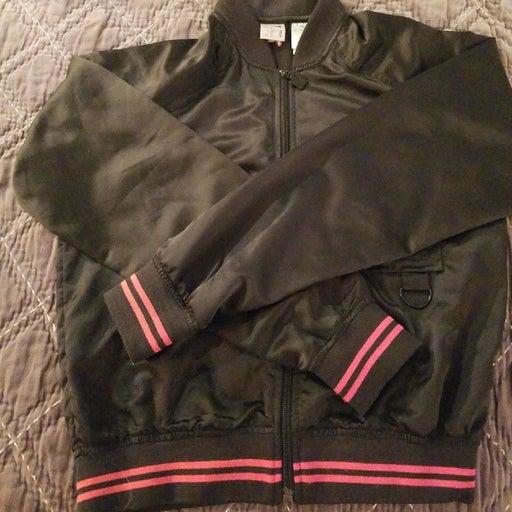 Women's black Fila bomber jacket