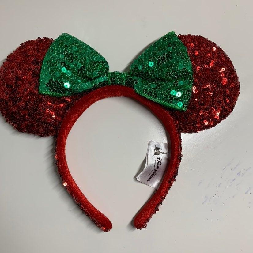 Christmas Minnie Mouse Ears