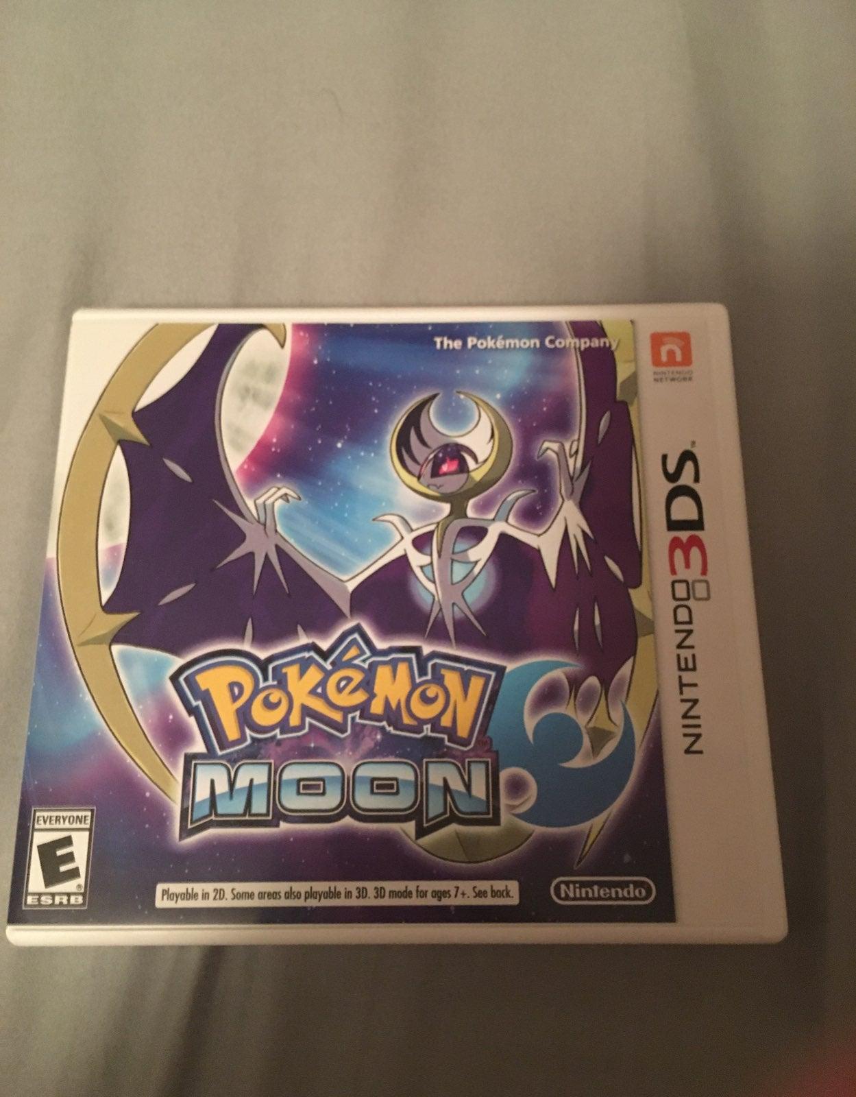 Pokemon moon 3ds game