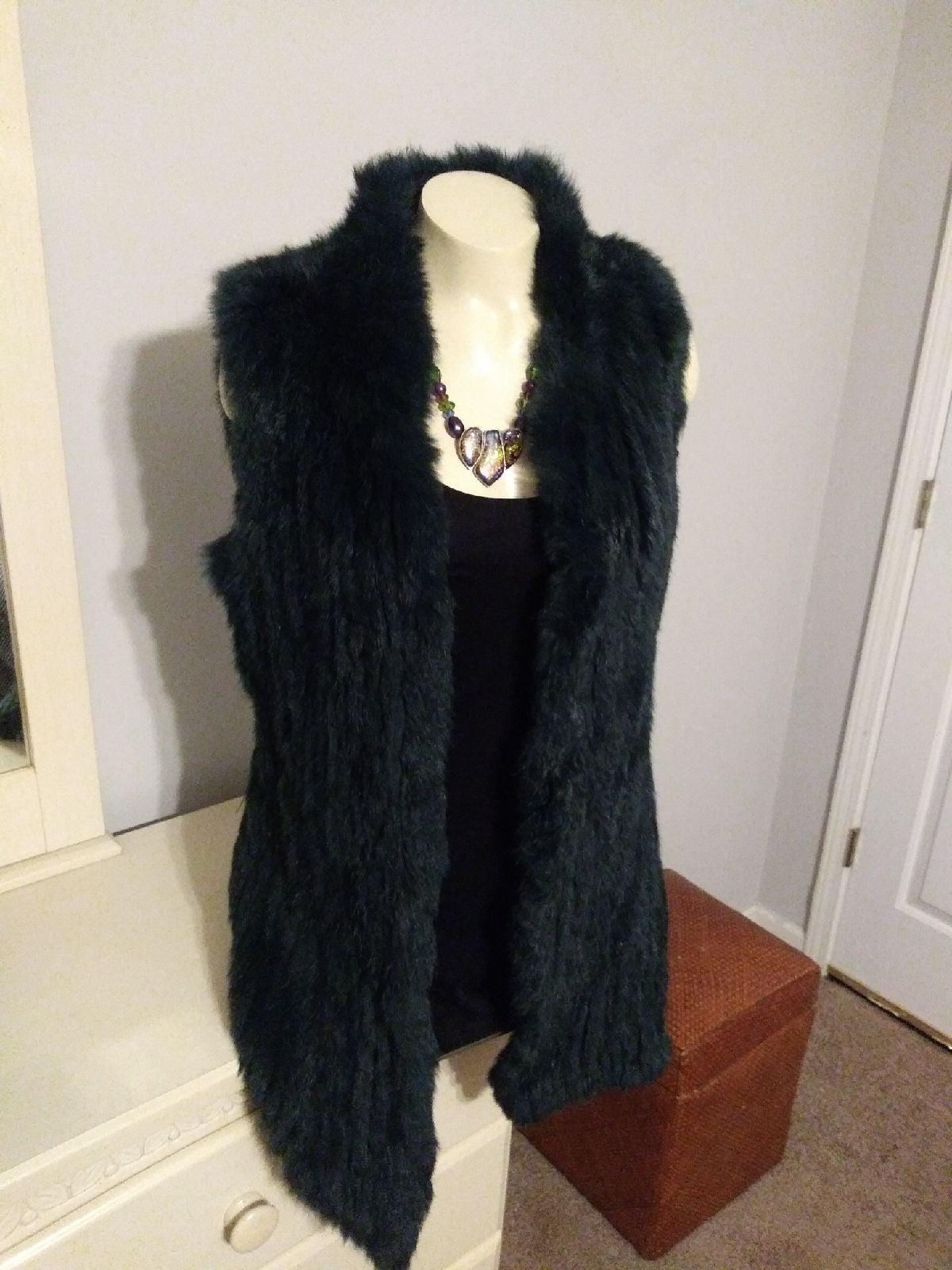 Genuine Fur Vest Size M