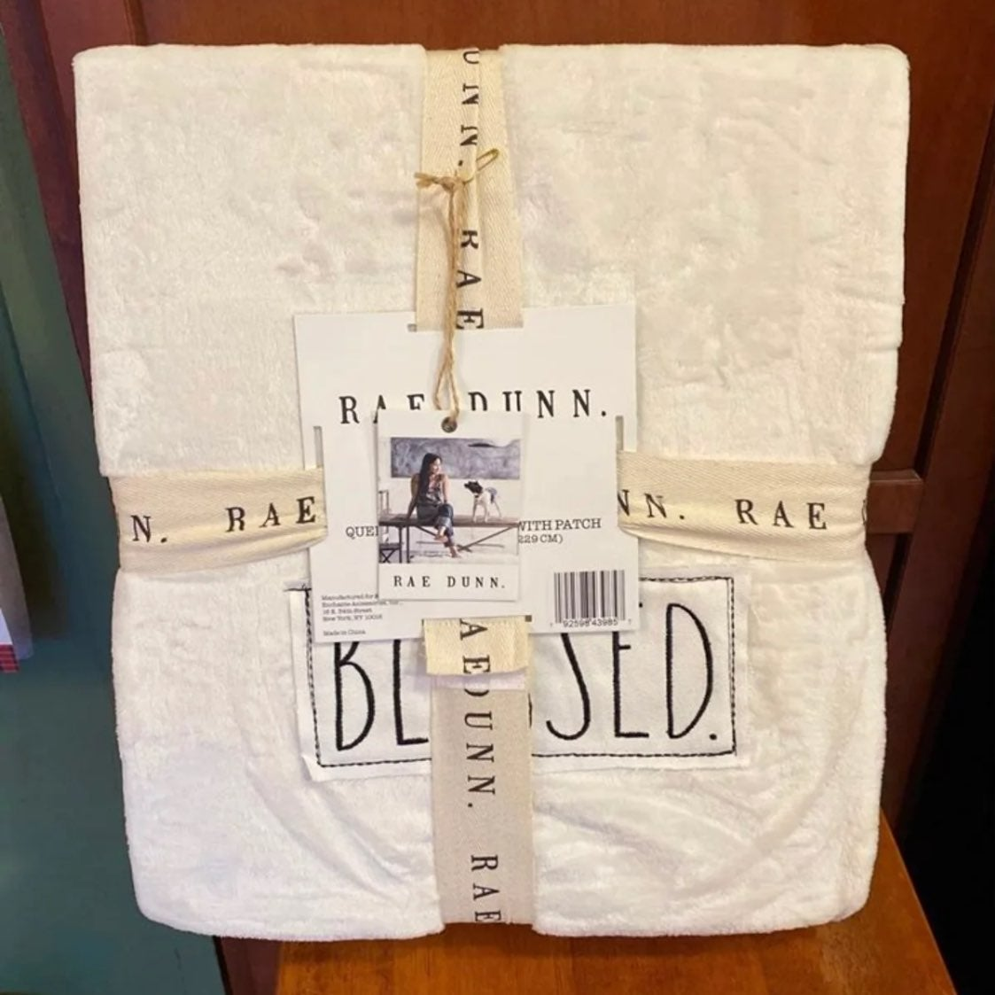 Rae Dunn Queen/Full Blanket BLESSED