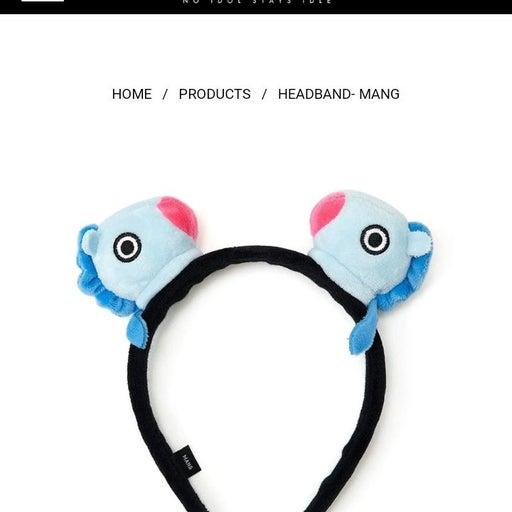 BT21 MANG Plush Character Headband NWT