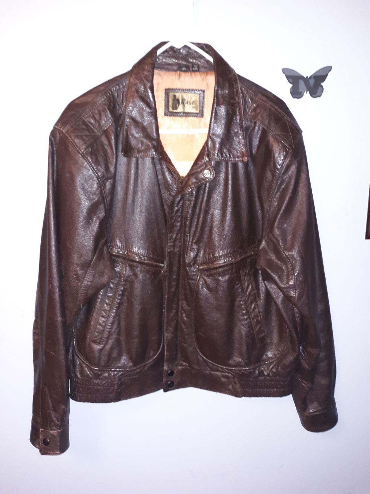 Men's Rage Brown Leather Jacket