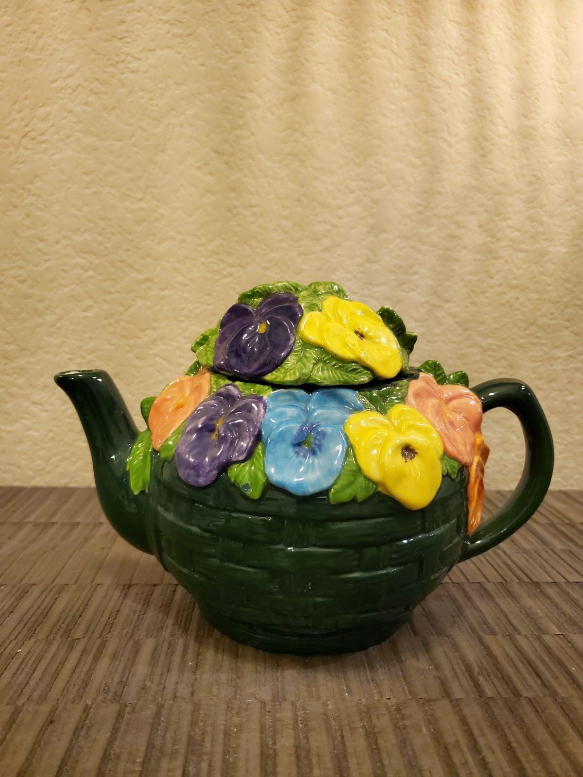 Teapot Ceramic Floral