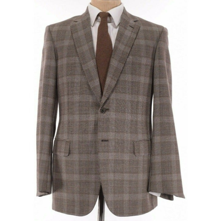 Brioni NWT Sport Coat Size 40R In Browns