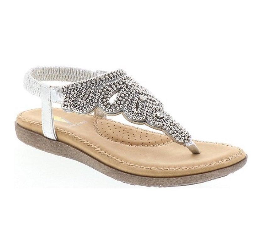 Volatile Glisan Jeweled Thong Sandals 8